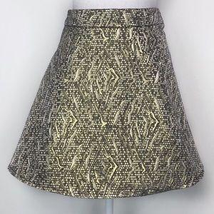 Moon Collection Gold Mini Skirt